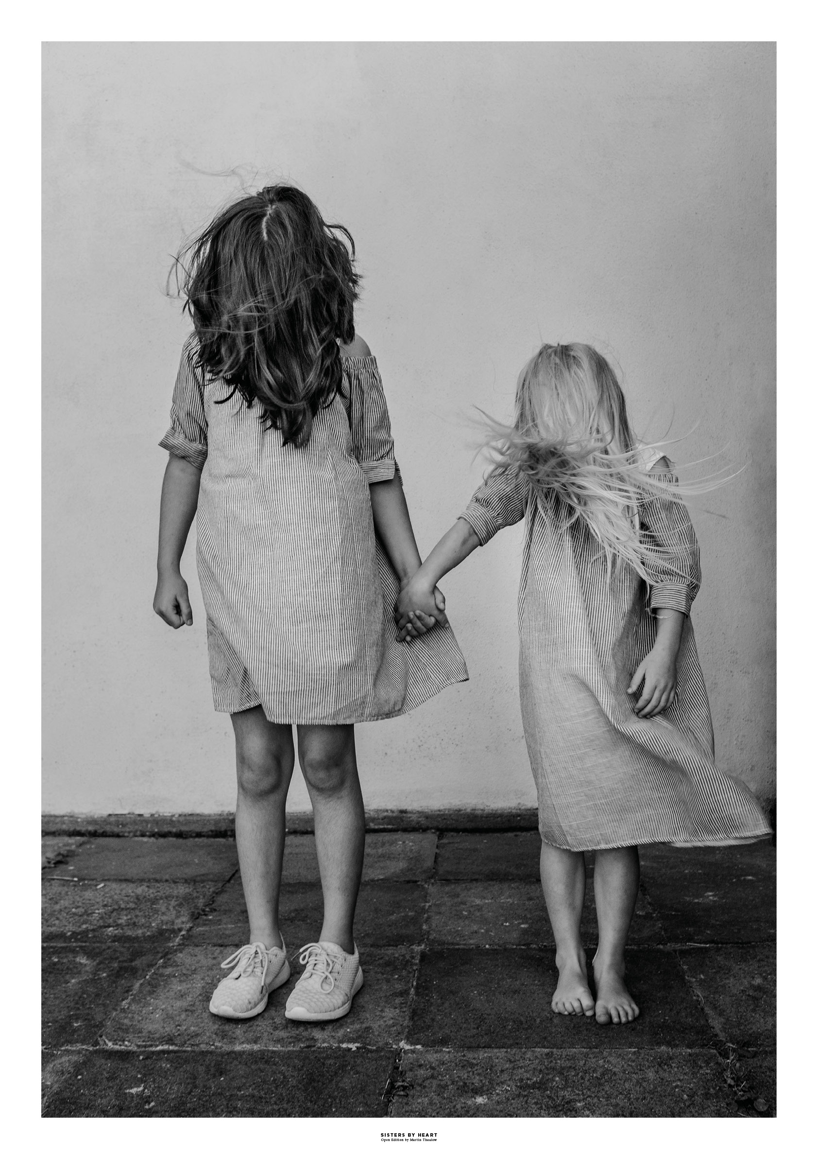 Sisters By Heart. Photo by photographer Martin Thaulow. Open Edition (seen with the white frame around the image as it is sold). Buy high quality print.