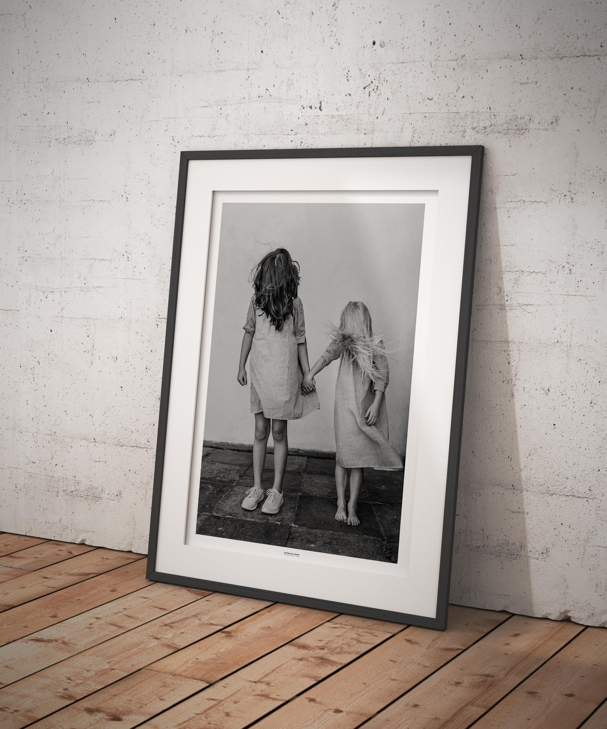 Sisters By Heart. Photo by photographer Martin Thaulow. Open Edition (seen in a frame in an environment. The frame is not part of sale). Buy high quality print.