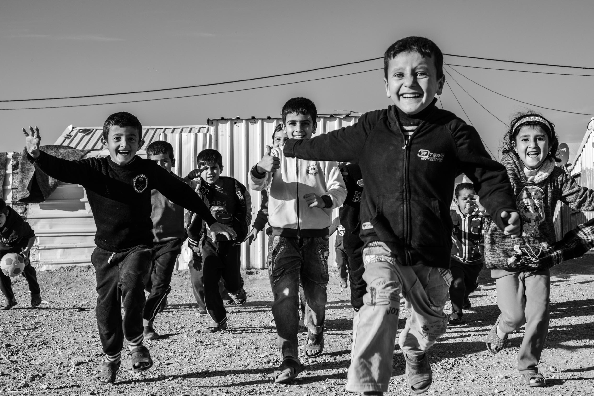Azraq Refugee Camp, Jordan. Photo by Martin Thaulow